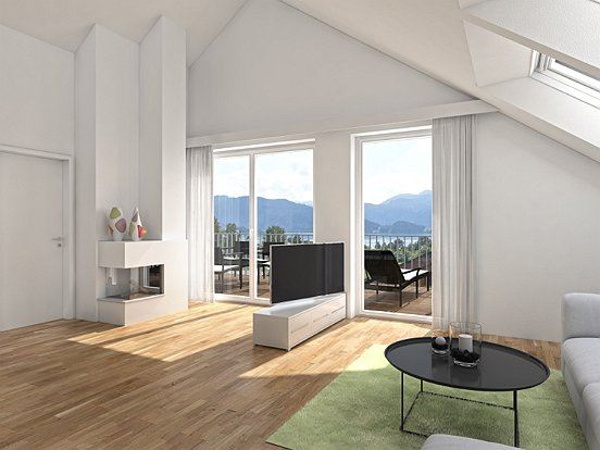 neubau dachgescho wohnung mit seeblick in mondsee kaufen denkstein immobilien ihre. Black Bedroom Furniture Sets. Home Design Ideas