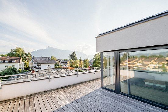 traumhafter ausblick sonniges penthouse in maxglan